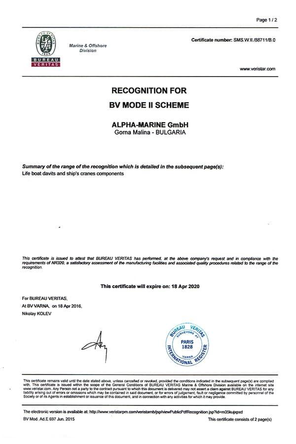 Recognition from Bureau Veritas